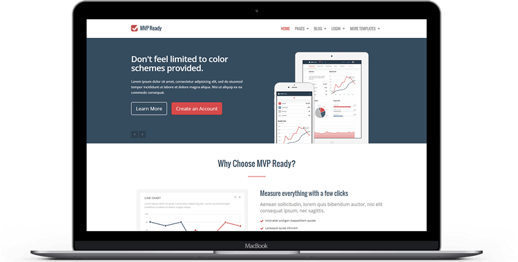 bootstrap themes templates mvp ready